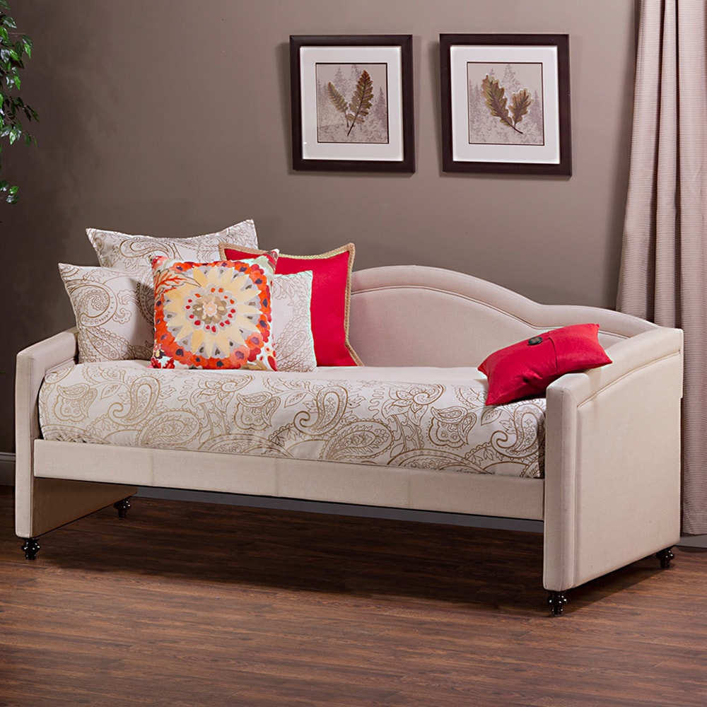 Hillsdale Jasmine Stone Linen Upholstered Daybed (Tan), B...