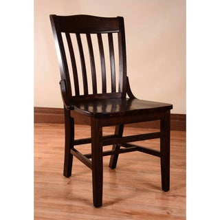 School House Dining Chairs (Set Of 2) (Option: Walnut Finish)