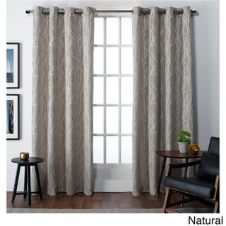 Clay Alder Home Sugar Creek Finesse Faux Linen Grommet Top Curtain Panel Pair (More options available)