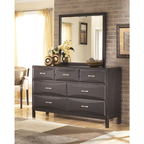 Signature Design by Ashley 'Kira' Dresser and Mirror - Black. Opens flyout.