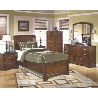 Signature Design by Ashley 'Alea' Medium Brown Sleigh Bed Set