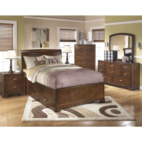 Signature Designs By Ashley Alea Brown Sleigh Bed Set