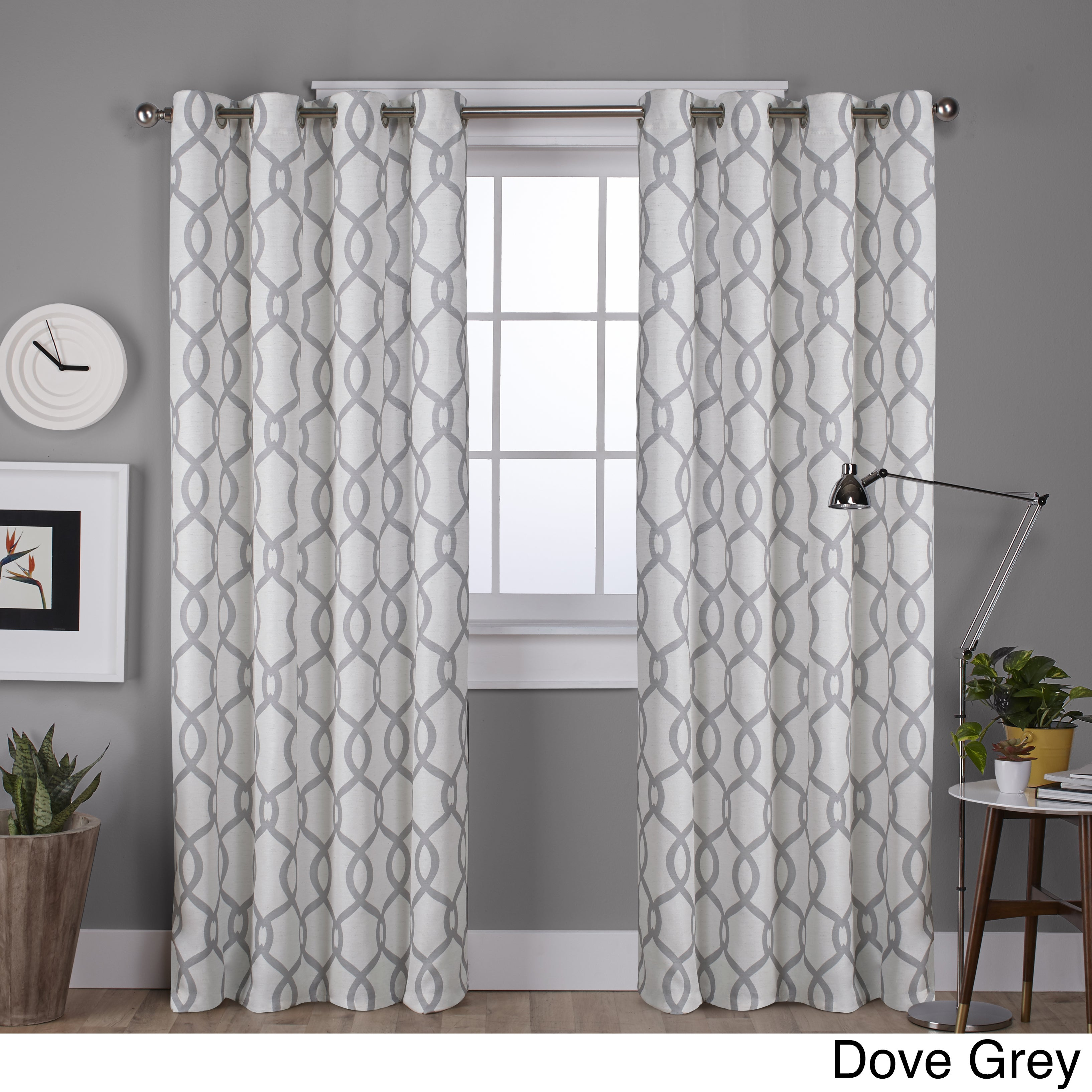 dark ready readymade online pewter product curtains made curtain eyelet juliet stripe