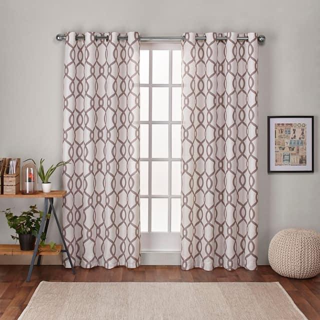 "ATI Home Kochi Linen Blend Window Grommet Top Curtain Panel Pair - 54"" w x 96"" l - Natural"