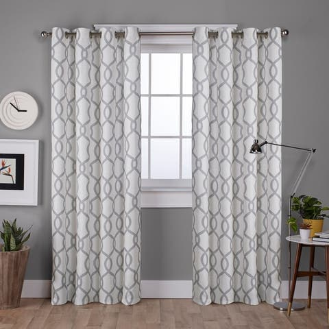 ATI Home Kochi Linen Blend Window Grommet Top Curtain Panel Pair