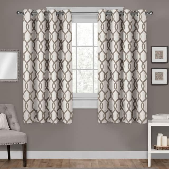 "ATI Home Kochi Linen Blend Window Grommet Top Curtain Panel Pair - 54"" w x 63"" l - Natural"