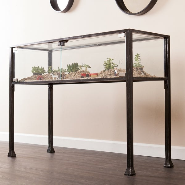 terrarium furniture. harper blvd display terrarium console sofa table furniture g