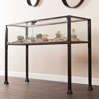 Porch & Den RiNo Brighton Black Metal Display/ Terrarium Console/ Sofa Table