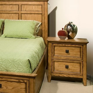 Alta Solid Ash 2 Drawer Nightstand