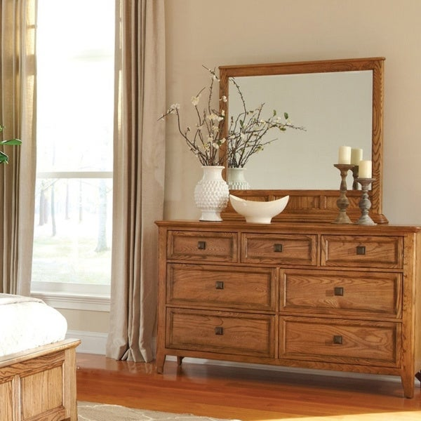 Copper Grove Maiac 7-drawer Brushed Ash Dresser with Mirror