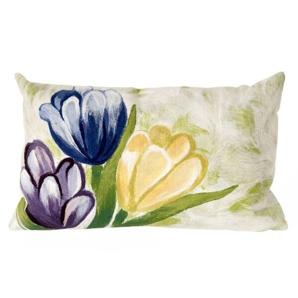 Liora Manne Spring Flower Decorative Indoor/Outdoor Throw Pillow