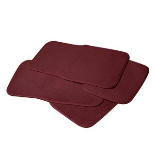 Adeco Burgundy 4-piece Car/ Vehicle Carpeted Floor Mats