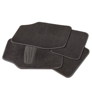 Adeco Black 4-piece Car/Vehicle Carpeted Floor Mats