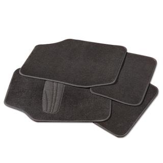 Adeco Black 4-piece Car/Vehicle Carpeted Floor Mats