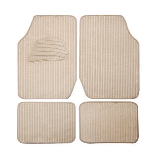 Adeco Beige Carpeted 4-piece Vehicle Floor Mats