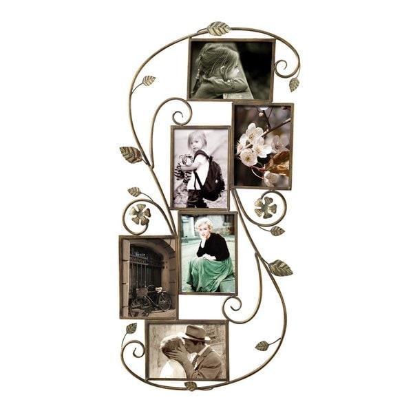 Adeco 6-opening Decorative Iron Wall-collage Photo Frame