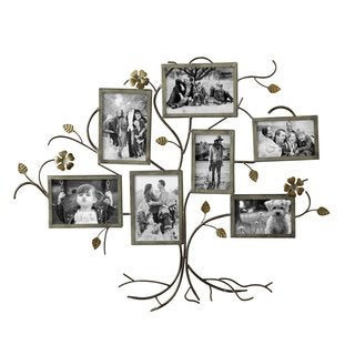 Adeco 7-opening Tree-shaped Iron Wall Hanging Photo Frame