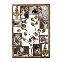 Adeco 9-opening Iron Decorative Wall Hanging Photo Frame