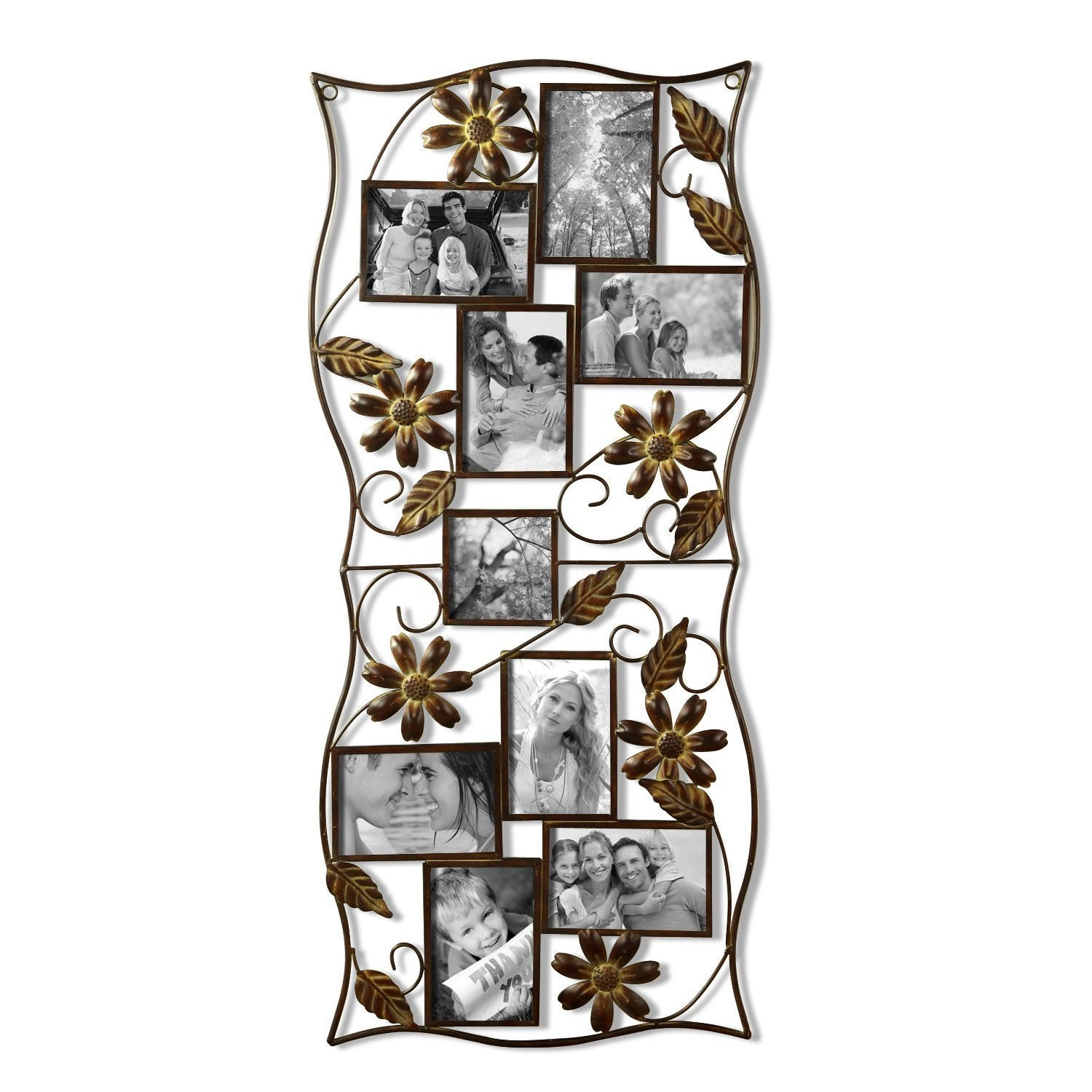 Adeco 9 Opening Iron Collage Wall Hanging Photo Frame Overstock 9401259