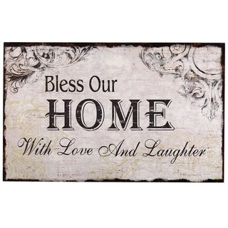 Adeco Decorative Wood Wall Sign Plaque