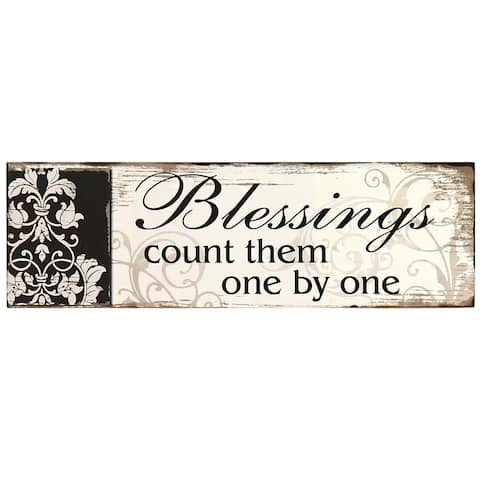 Adeco 'Blessings' Decorative Wood Wall Plaque