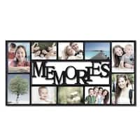 Adeco Memories 10-opening Plastic Black Wall Hanging Collage Photo Frame