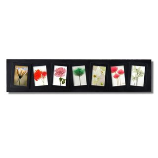 Adeco 7-opening Cockeyed Black Plastic Wall Hanging Collage Picture Photo Frame
