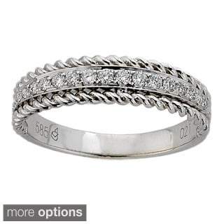 DFAC 14K Rose or White Gold 1/5ct TDW Diamond Braided Anniversary Band (H-I, SI1-SI2)