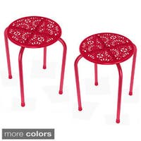urb SPACE Daisy Stackable Metal Stool (Set of 2)