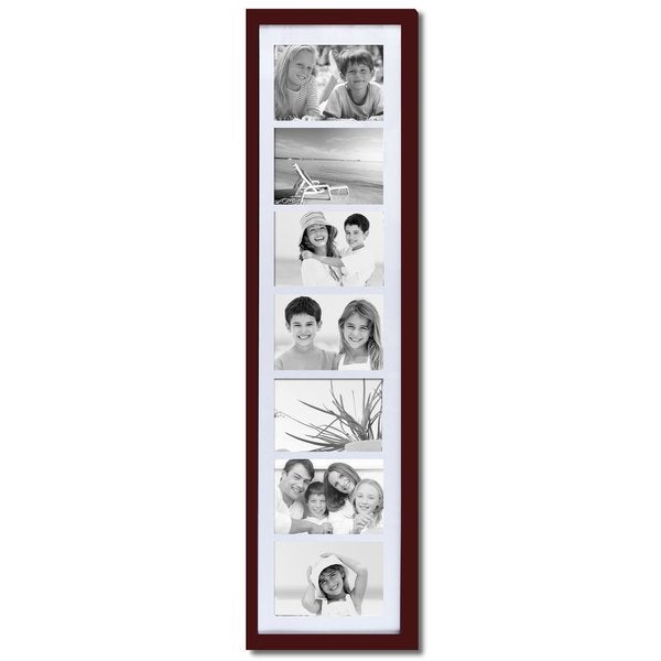 Shop Adeco Walnut Matted Wood 7 Opening Collage Photo