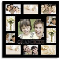 Adeco 'Grandkids' Black Wooden 11-opening Collage Photo Frame