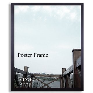 Adeco Black 24-inch x 30-inch Poster/ Picture Frame with Clear Plexiglass