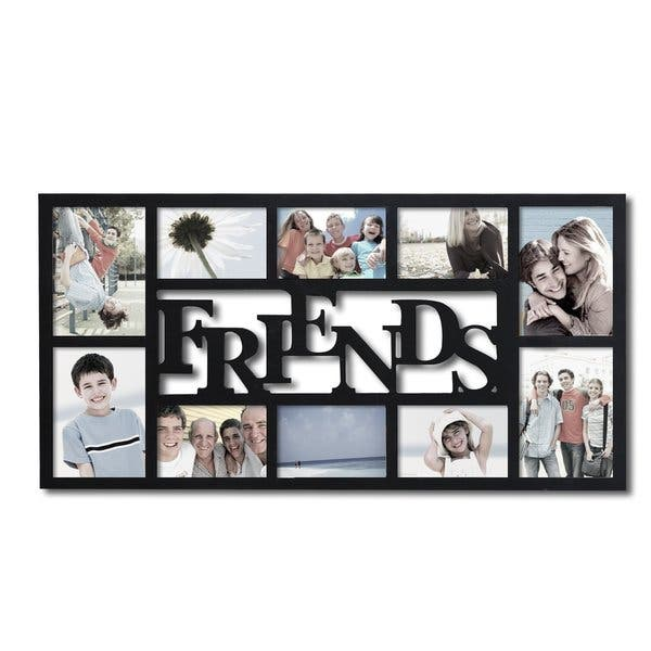 Shop Adeco 'Friends' Black Wood 10-opening Collage Photo