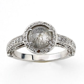 Neda Behnam 18k White Gold 2 1/2ct TDW Grey and White Rough Diamond Ring (H-I, SI1-SI2)
