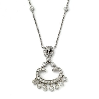 Diamonds for A Cure 14K White Gold 1/2ct TDW White Diamond Chandelier Necklace (H-I, SI1-SI2)