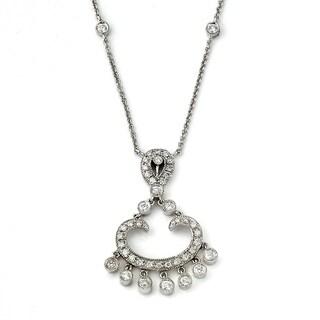 Neda Behnam 14k White Gold 1/2ct TDW White Diamond Chandelier Necklace