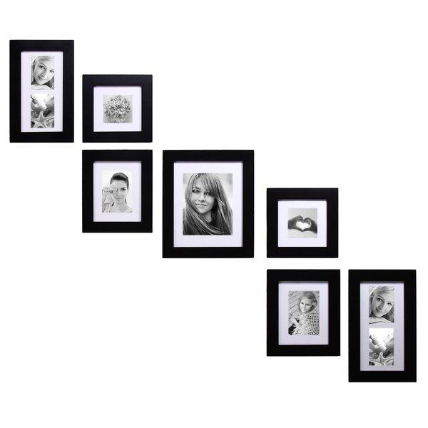 Adeco 7 Piece Black Picture Frame Set 16589771