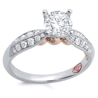 Demarco 18k White Gold 1ct TDW Designer Diamond Engagement Ring