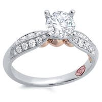 Demarco 18k White Gold 1ct TDW Designer Diamond Engagement Ring