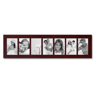 Adeco 7-opening Walnut 4x6 Collage Picture Frame