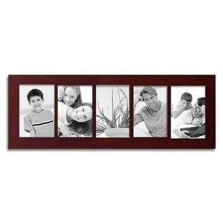Adeco 5-opening Walnut 4x6 Collage Picture Frame