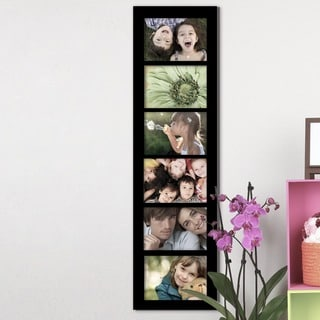 Adeco 6-opening Black 5x7 Collage Picture Frame