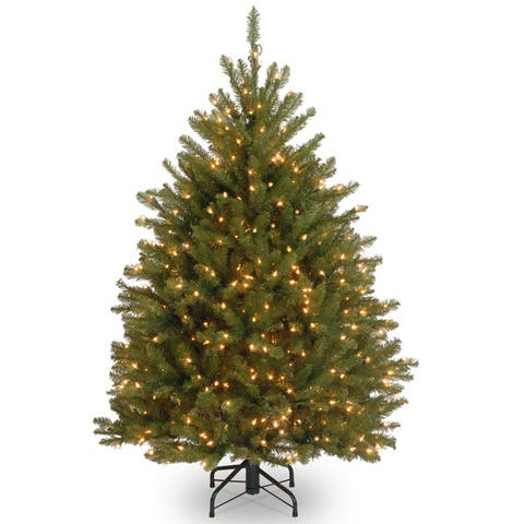 4.5-foot Fir Pre-lit or Unlit Artificial Hinged Tree