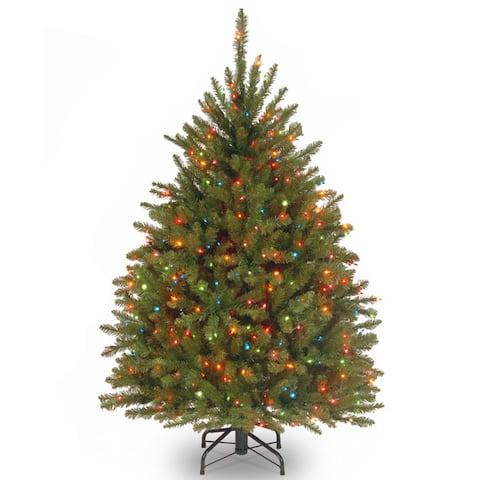 4.5-foot Dunhill Fir Fir Pre-lit or Unlit Artifical Hinged Tree