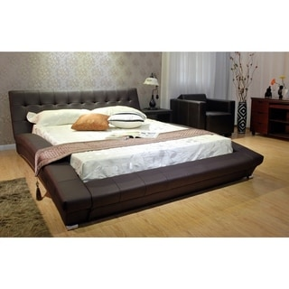 Queen-size Faux Leather Upholstered Bed