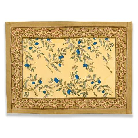 Couleur Nature Gold/ Blue Olive Tree Placemats (Set of 6)