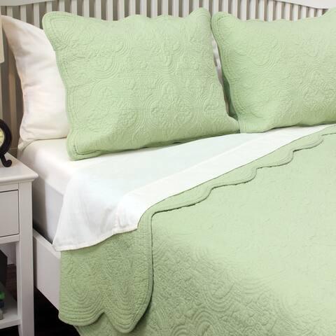 Copper Grove Sagano Blantyre Scalloped Edge Cotton 3-piece Quilt Set