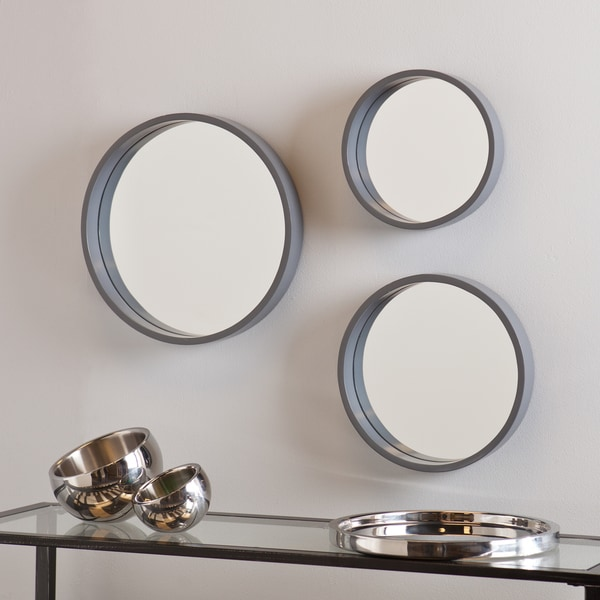 shop holly and martin daws cool gray wall mirror 3pc set free shipping today. Black Bedroom Furniture Sets. Home Design Ideas