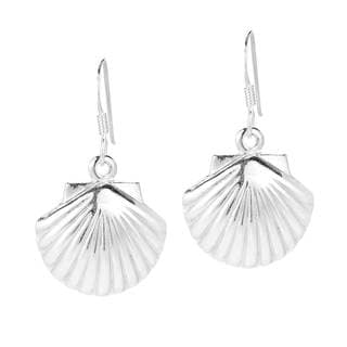 Link to Handmade Summer Sea Shell .925 Sterling Silver Dangle Earrings (Thailand) Similar Items in Earrings