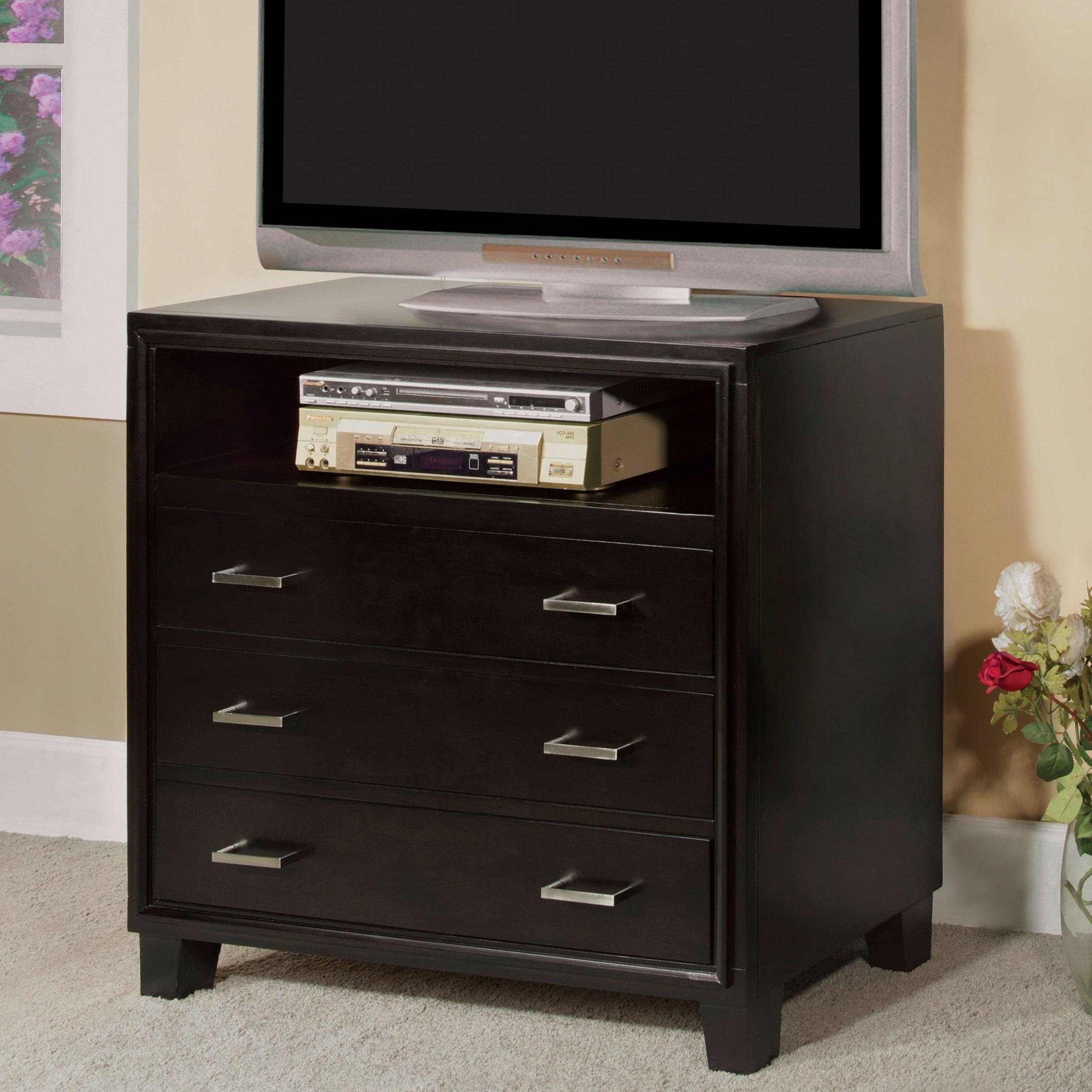 Furniture of America Elrich Modern Espresso 3-Drawer Medi...